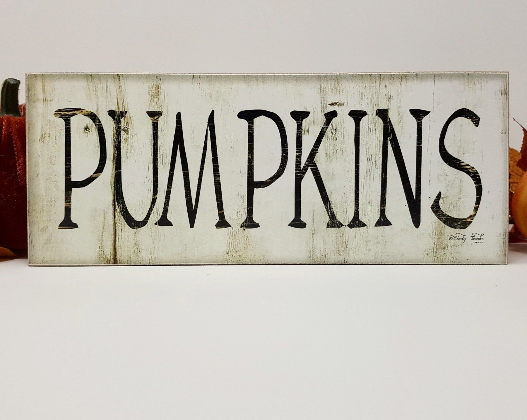 Fall Rustic Pumpkin Sign Fall Decor A Rustic Feeling