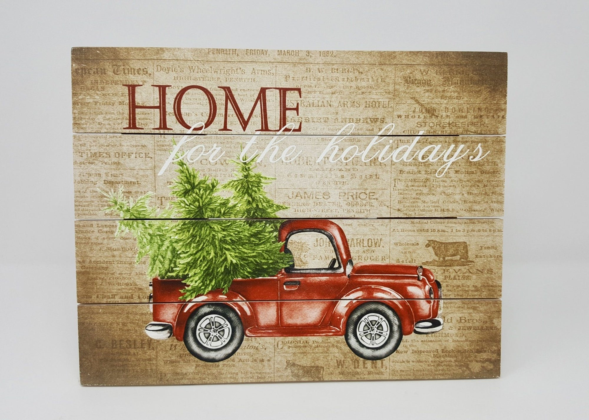Red Rustic Truck Christmas Decor Holiday Decor A Rustic Feeling