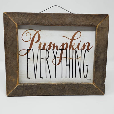 Pumpkin Everything Rustic Sign Fall Decor A Rustic Feeling