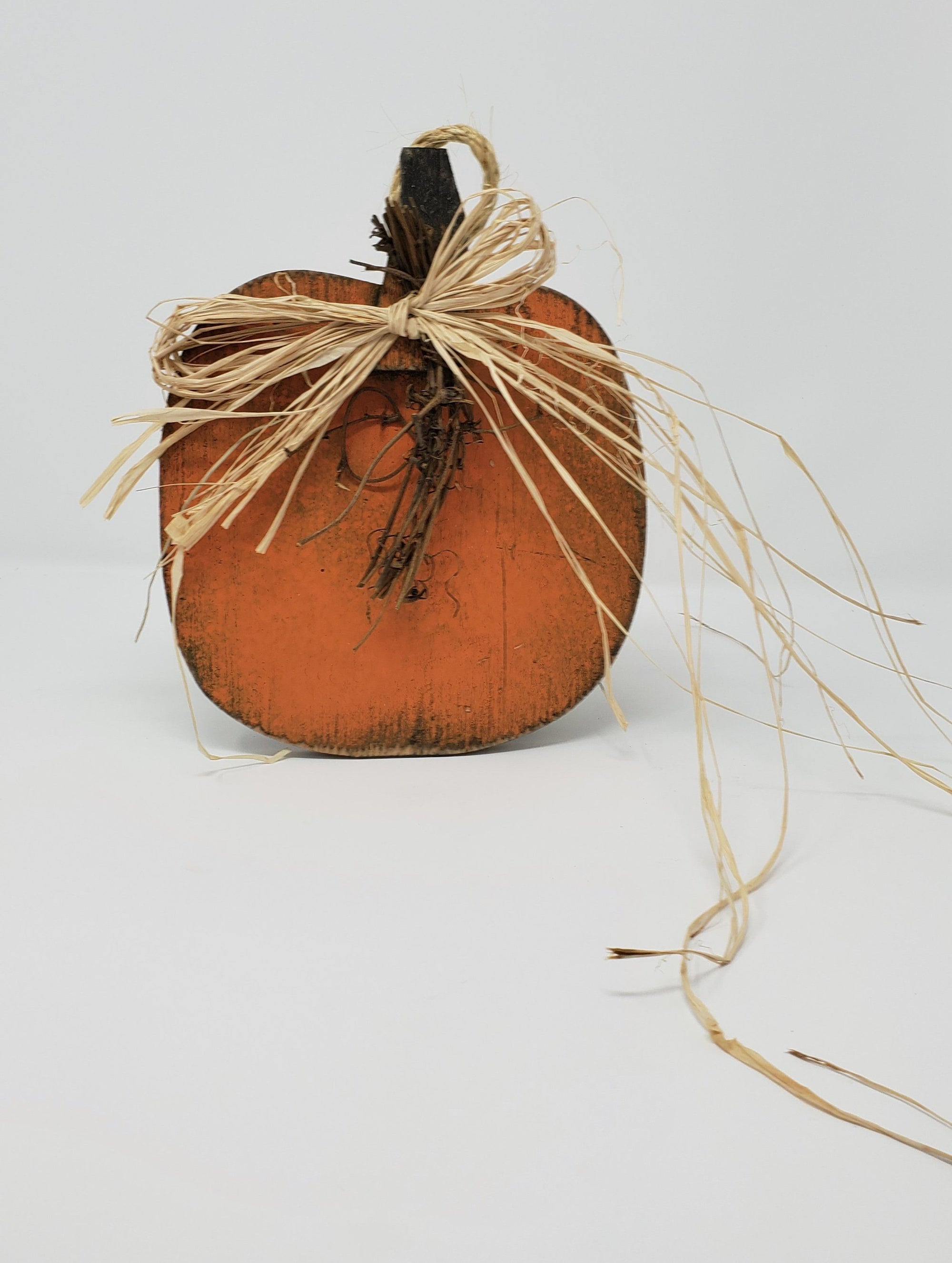 Handcrafted Wood Pumpkin