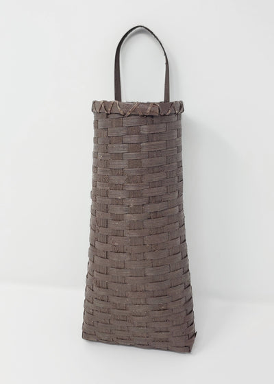 Farmhouse Style Brown Woven Wall Hanging Basket