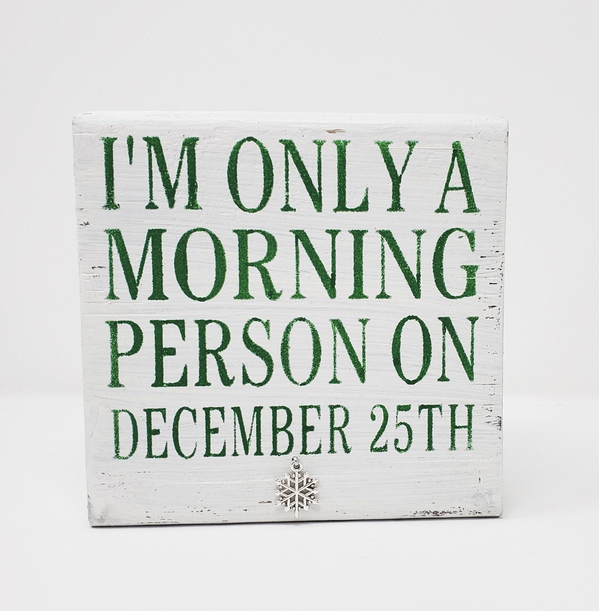 Funny Christmas Sign, Funny Coffee Sign, Coworker Gift Holiday A Rustic Feeling