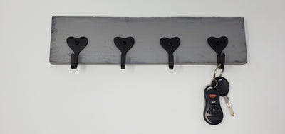 Key Rack, Valentines Day Gift for Him, Key Holders, Heart Decor