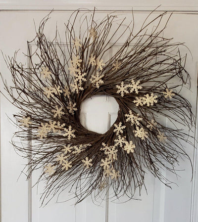 Christmas Wreath for Front Door Holiday Wreaths A Rustic Feeling