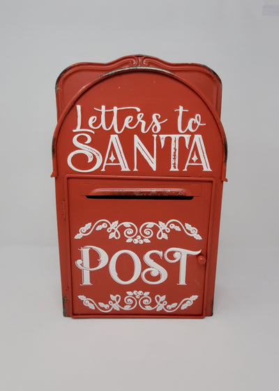 Santa Decorations, Letters to Santa, Christmas Mailbox, Santa's Address 2019, Holiday Decor, Santa Mailbox