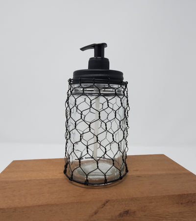 Chicken Wire Farmhouse Kitchen Soap Dispenser Country Home Decor A Rustic Feeling