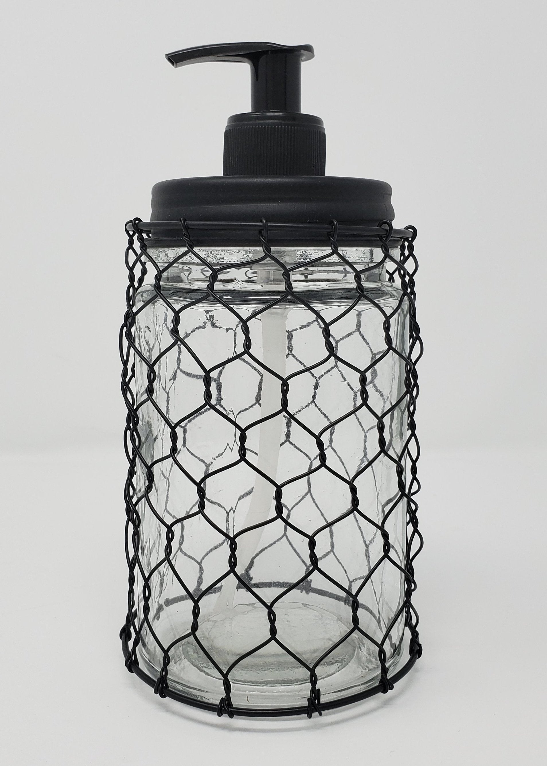 Chicken Wire Farmhouse Kitchen Soap Dispenser