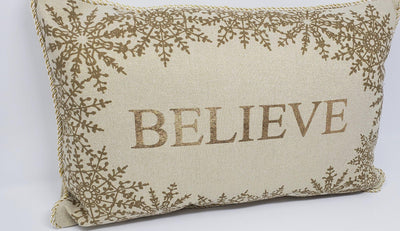Believe Pillow Holiday Decor