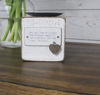 Rustic Candle Holder with Charm