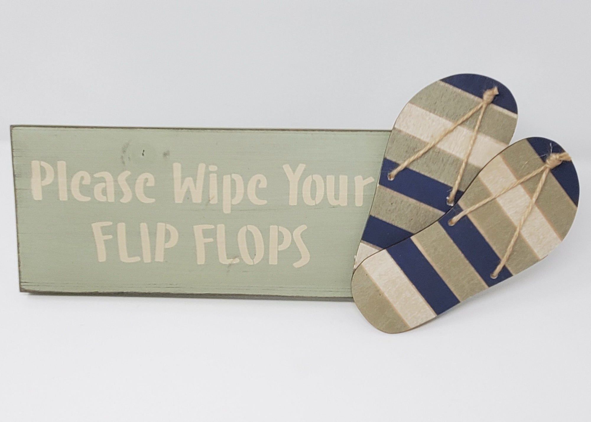 Please Wipe Your Flip Flops Beach Sign Beach Decor A Rustic Feeling