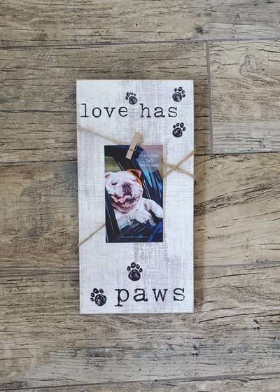 Paw Print Picture Frame Pet Decor A Rustic Feeling