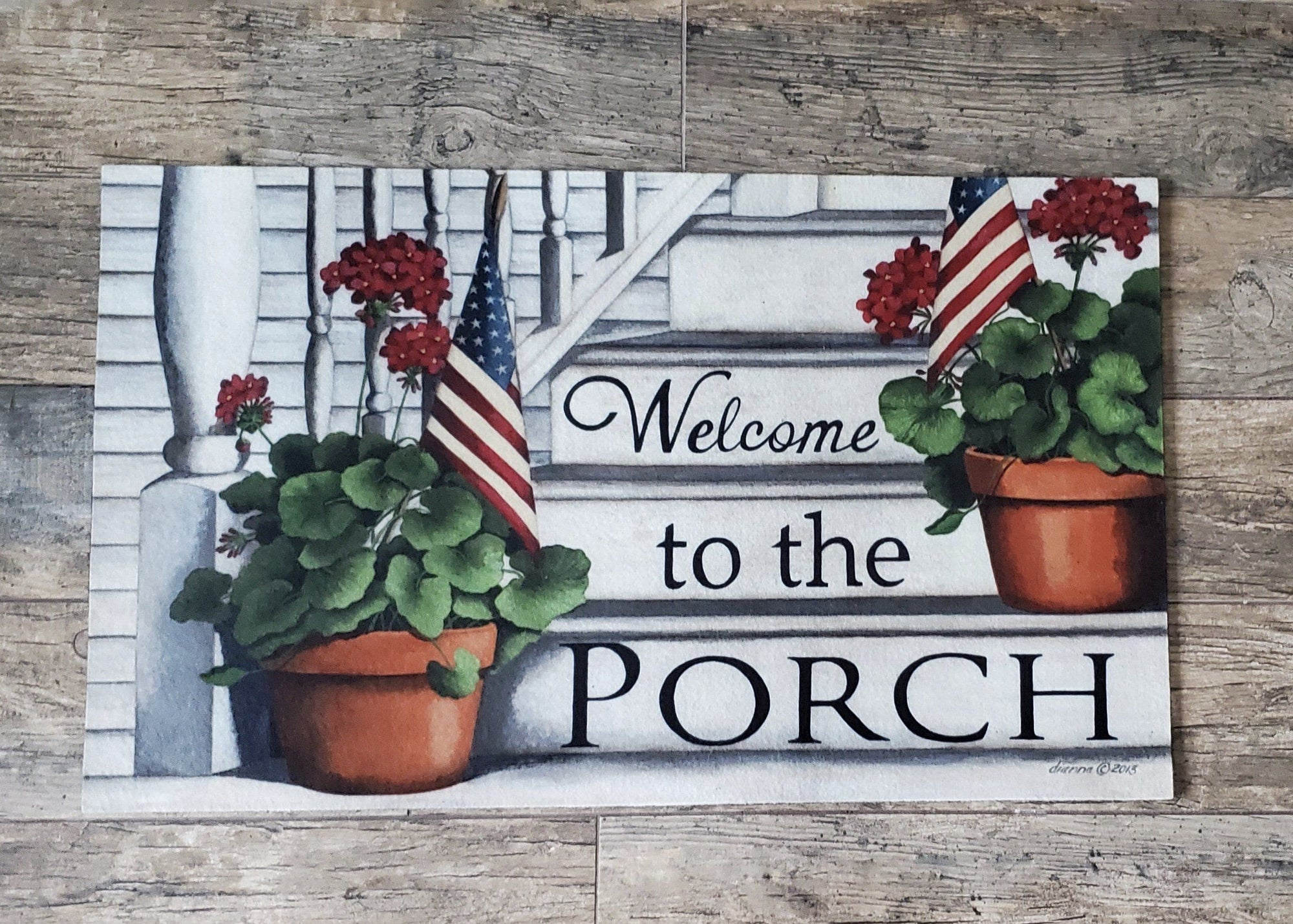 Welcome to the Porch Mat Farmhouse Decor A Rustic Feeling