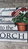 Welcome to the Porch Mat A Rustic Feeling