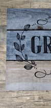 Front Porch Mat, Grateful, Thankful, Blessed Farmhouse Decor A Rustic Feeling