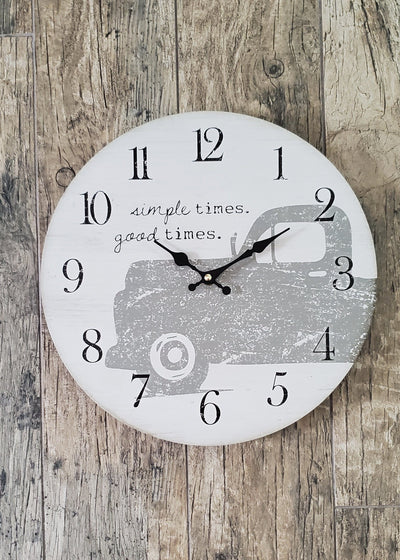 Rustic Truck Farmhouse Clock Farmhouse Decor A Rustic Feeling