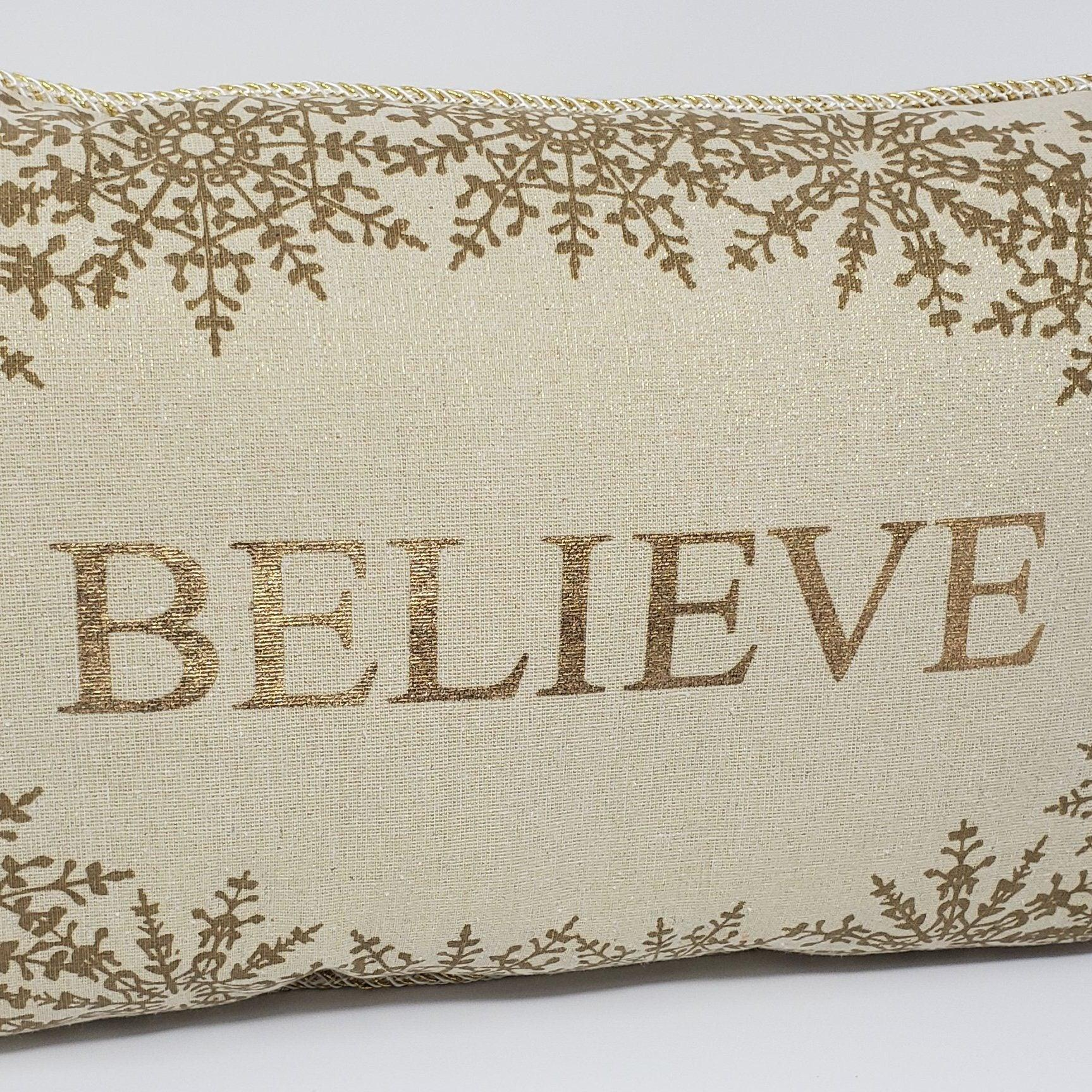 Believe Pillow Holiday Decor Holiday Decor A Rustic Feeling