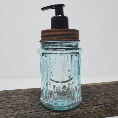 Glass Farmhouse Kitchen Soap Dispenser Country Home Decor A Rustic Feeling