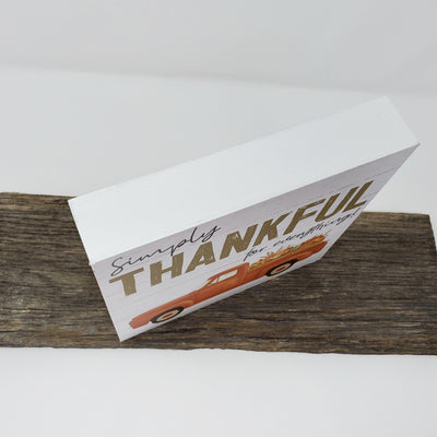 Vintage Truck Simply Thankful for Everything Box Sign Fall Decor A Rustic Feeling