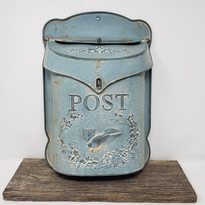 Vintage Metal Post Box Farmhouse Decor A Rustic Feeling