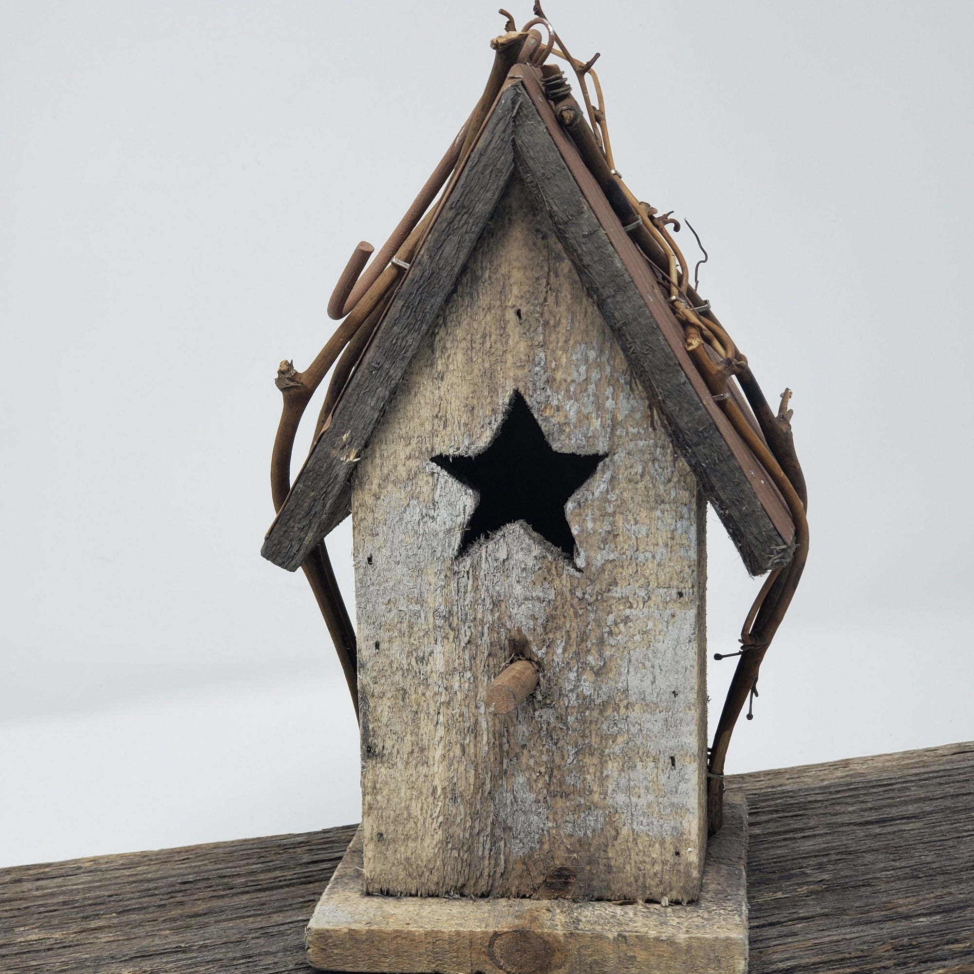 Rustic Wood Birdhouse Garden Decor A Rustic Feeling