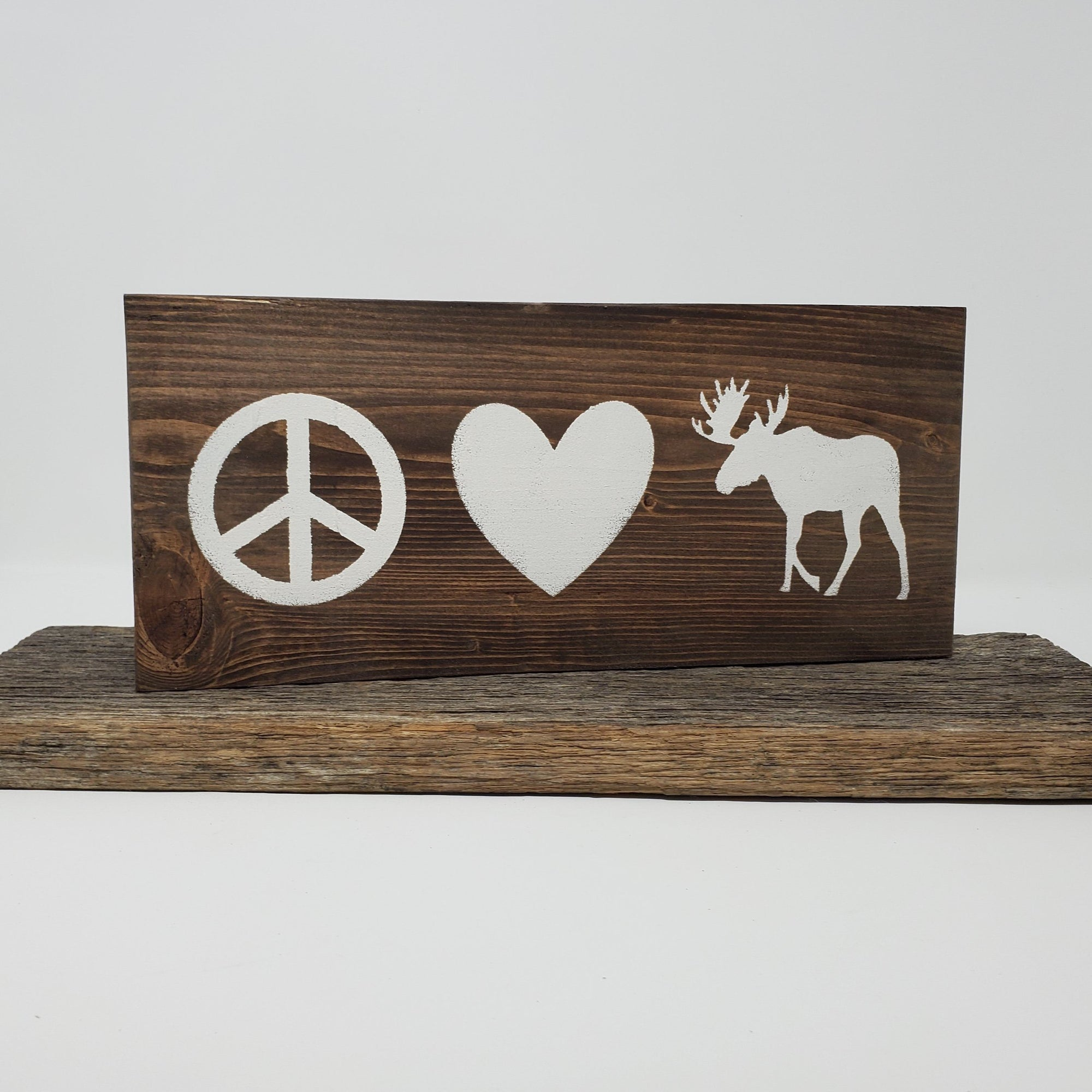 Peace Signs, Moose Signs, Peace Love, Cabin Decor Cabin Decor A Rustic Feeling