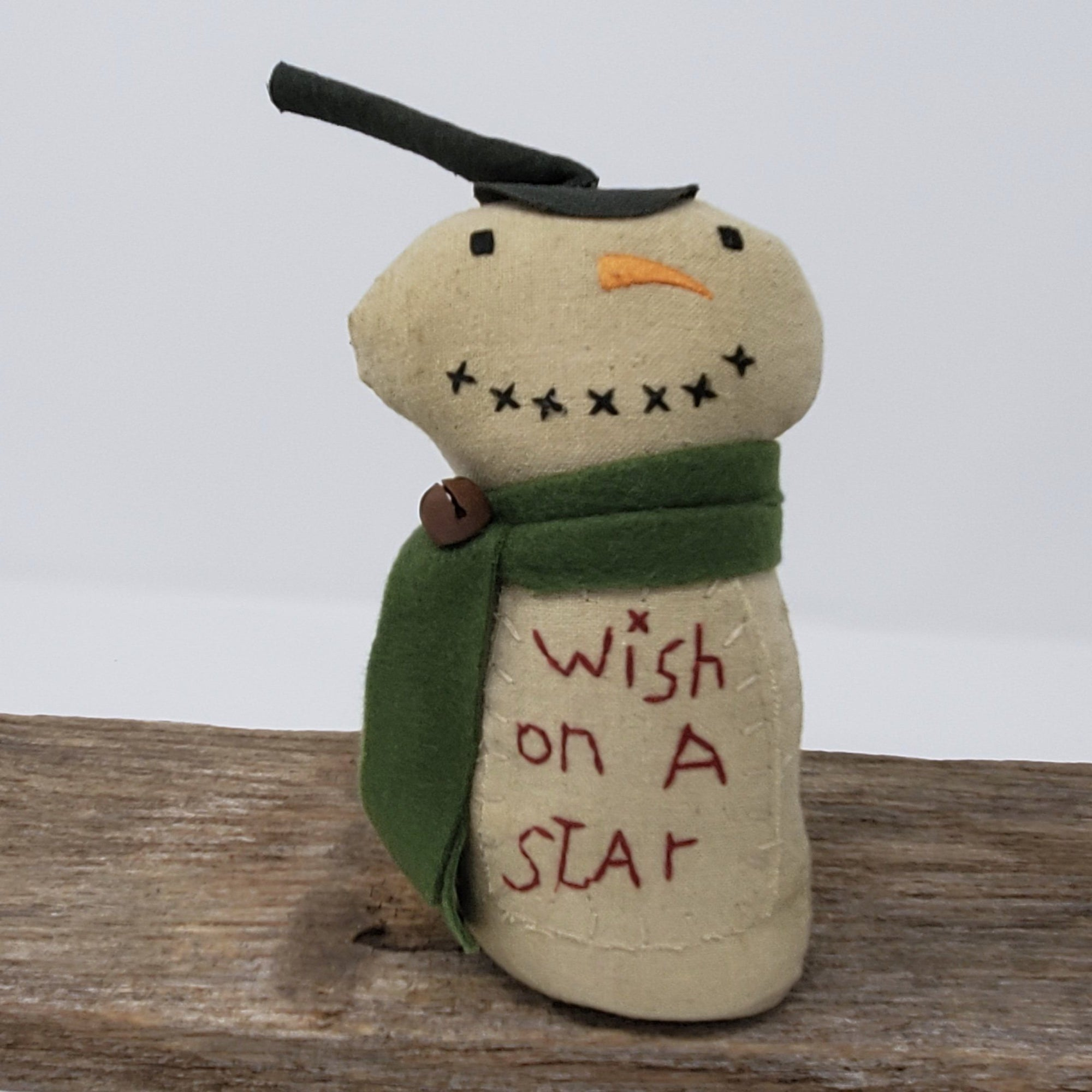 Primitive Snowman with Top Hat Primitive Decor A Rustic Feeling