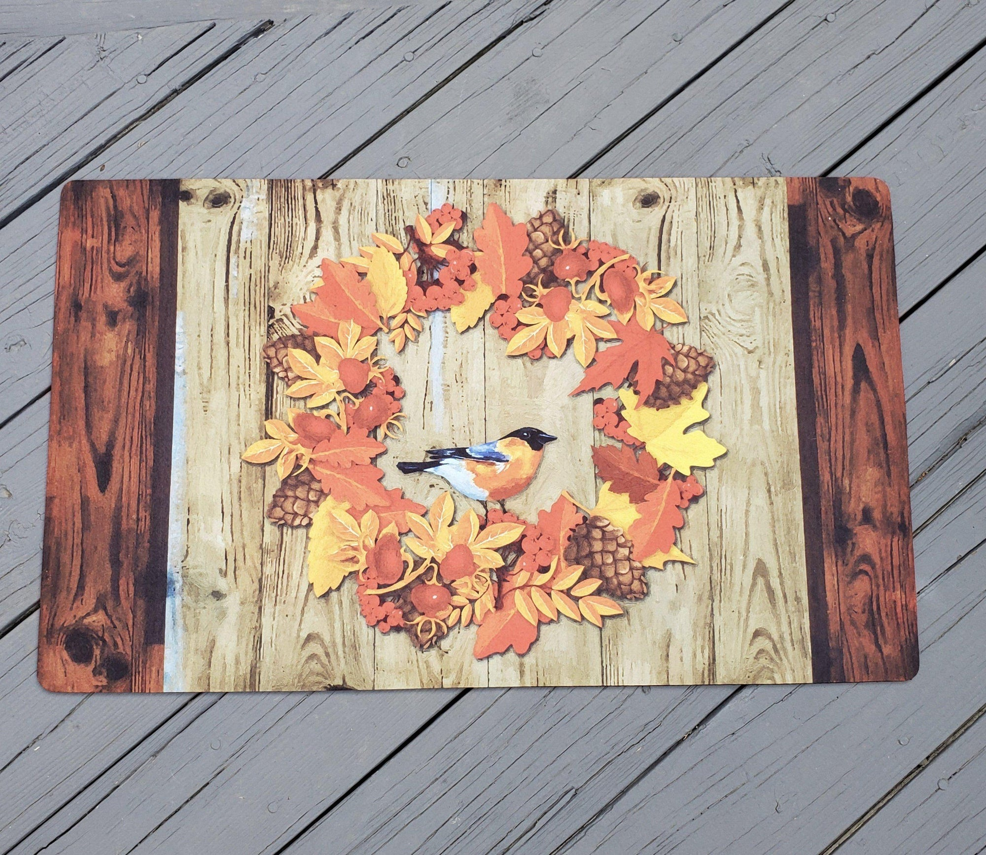 Fall Front Porch Welcome Mat Fall Decor A Rustic Feeling
