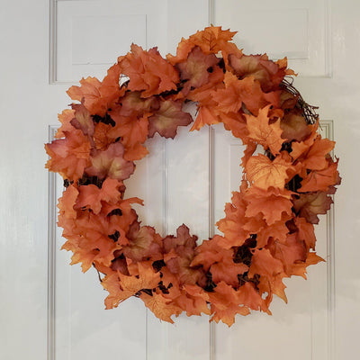 Fall Decor, Fall Wreaths for Front Door, Autumn Wreath with Fall Leaves Fall Decor A Rustic Feeling