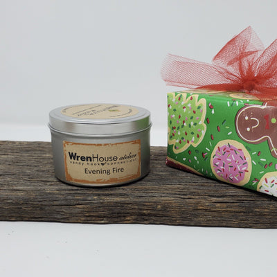 Holiday Soy Candles in Tin 8 oz. Holiday WrenHouse atelier
