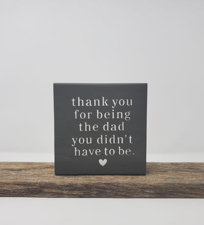 Stepdad Valentines Day Gift, Gift for Stepdad, Stepfather Gift Wood Block Signs ARusticFeeling