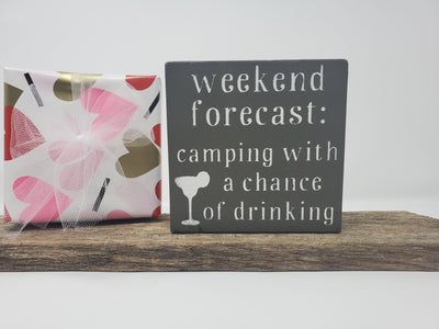 Funny Camping Quote Sign Camper Decor A Rustic Feeling