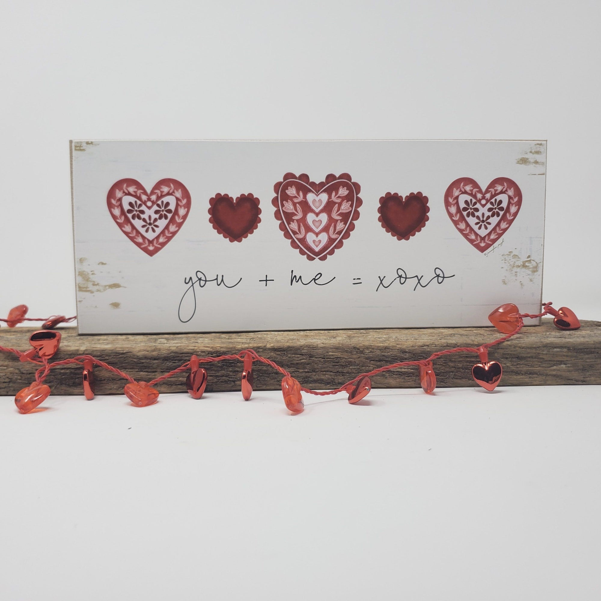 Valentine's Gift for Boyfriend, Girlfriend, Husband, Wife Valentine Decor A Rustic Feeling