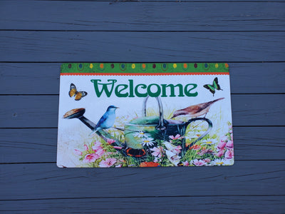 Spring Front Porch Welcome Mat Farmhouse Decor A Rustic Feeling