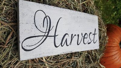 Rustic Harvest Sign Fall Decor A Rustic Feeling