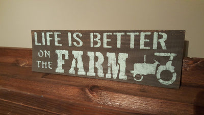 Life is Better on The Farm Sign Country Home Decor ARusticFeeling