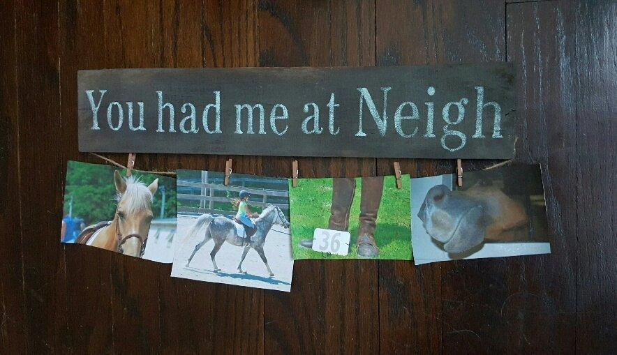 Horse Gifts, Equestrian Gift, Birthday Gift, Horse lover Gift, Gift for Girlfriend, Farm Decor, Horse Decor, You Had Me at Neigh, Horse