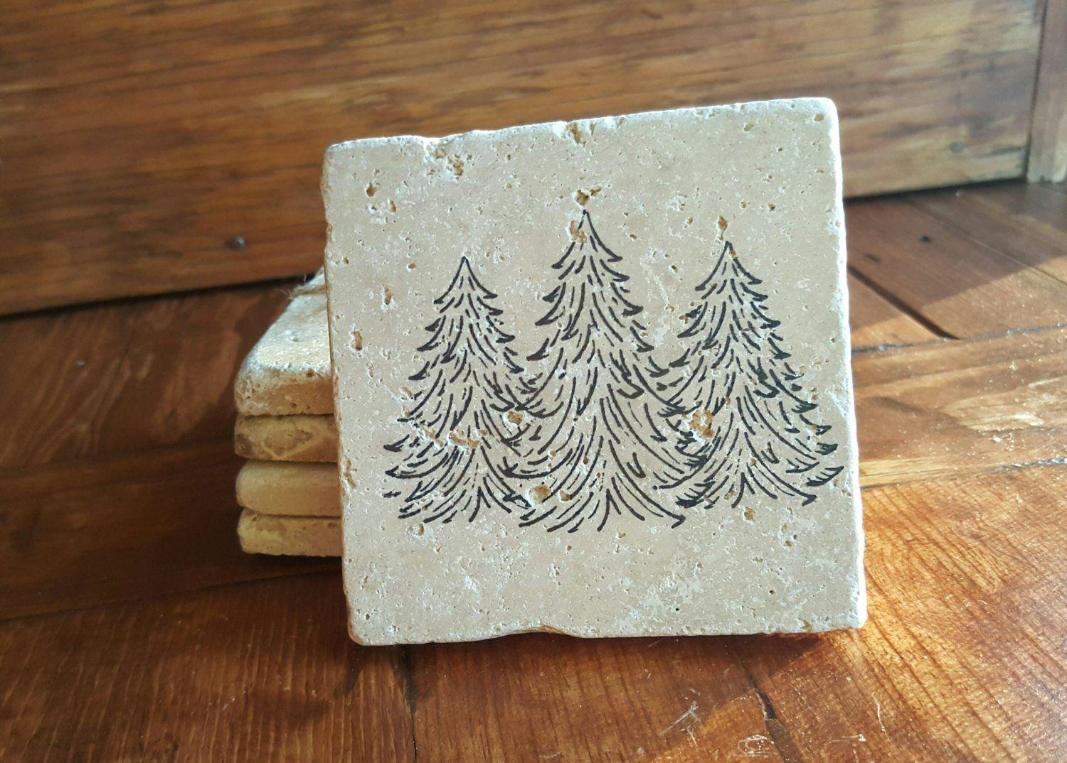 Balsam Tree Cabin Coasters Coasters A Rustic Feeling