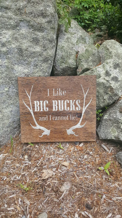 I Like Big Bucks Cabin Sign Fathers Day ARusticFeeling