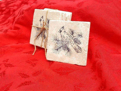 Cardinal Coasters Holiday Gift Ideas A Rustic Feeling