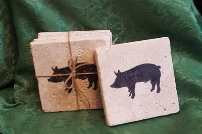 Pig Gift, Pigs, Pig Coasters, Gift for Friend, Piggy, Mothers Day, Gift for Her, Pig Birthday, Pig, Aunt Gift, Sister Gift, Gift for Wife