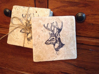 Fathers Day Gift, Dad Gift, Gift for Dad, Step Dad Gifts, Coasters, Gift for Hunters, Stone coaster, Husband Gift, Gift for Men, Cabin Gift