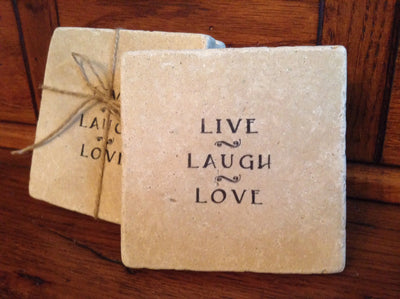 Live Laugh Love Quote Coasters Coasters ARusticFeeling