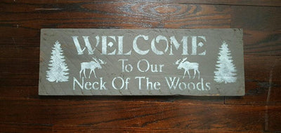 Moose Welcome Sign Fathers Day A Rustic Feeling