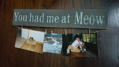 You Had Me At Meow Cat Lover Sign Pet Decor ARusticFeeling