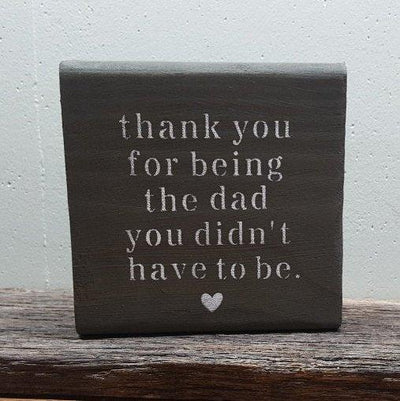 Thank you Step Dad Wood Sign Wood Block Signs ARusticFeeling