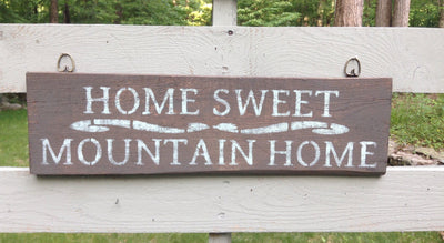 Rustic Decor, Mountain Cabin Decor, Country Home Decor, Rustic Sign, Home Sweet Home, Country Decor, Cabin Decor, Lodge Decor, Gift for Him