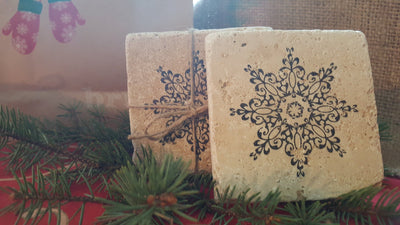 Snowflake Gift,  Coasters, Snowflake Coasters, Christmas Gift Ideas,  Gift Ideas, Home Decor, Teacher gifts, Bus Driver gifts, Snowflake