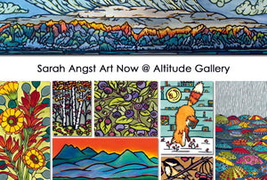 Sarah Angst Art at Altitude Gallery in Downtown Bozeman