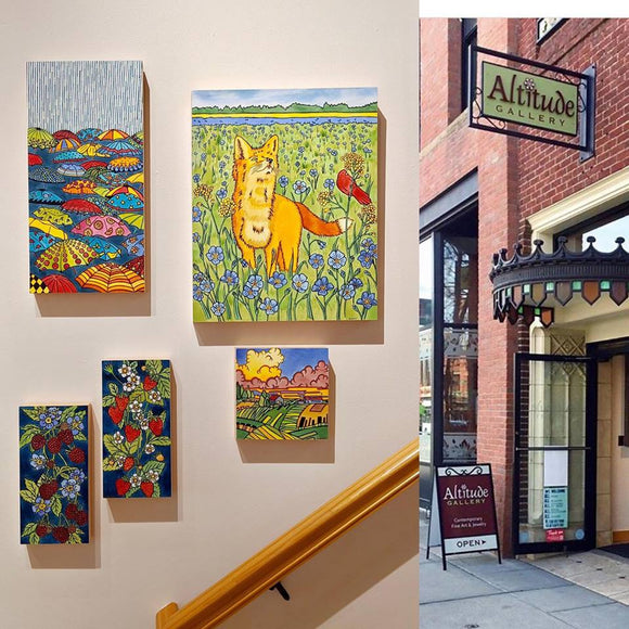 Altitude Gallery in Bozeman, Montana featuring Sarah Angst Art