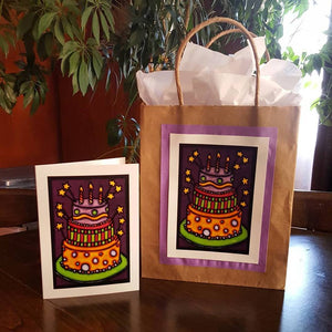 Up-cycle your old greeting cards & paper shopping bags! Here's how.